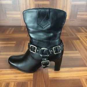 MILWAUKEE VIXEN Black Moto Boots